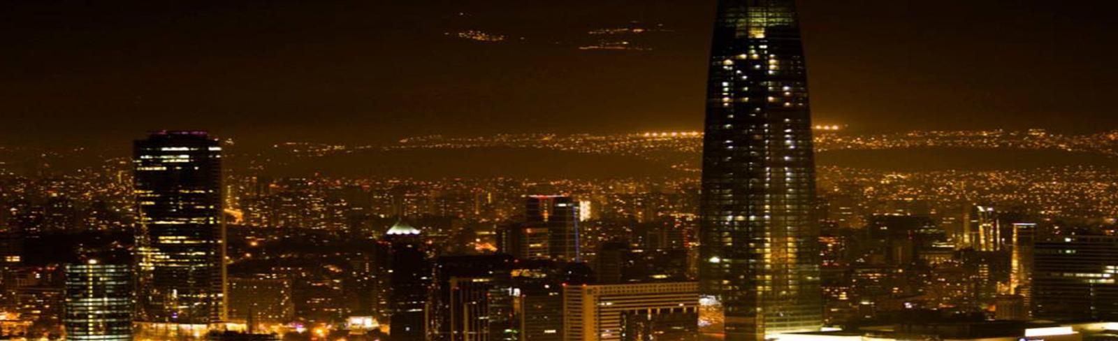 Santiago, Chile at night