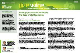 Scaling Up Access to Electricity : The Case of Lighting Africa